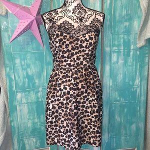 Xhiliration brand juniors Leopard print slip dress
